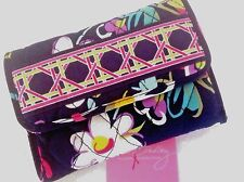 Vera Bradley EURO WALLET IN RIBBONS QUILTED COTTON BILL-COIN  TRIFOLD PURSE NWT