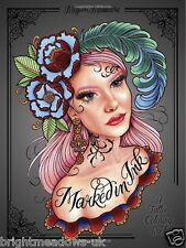 Marked In Ink Tattoo Artists Adult Colouring Book Whimsical Mermaid Owls Skulls