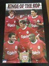 """1998 Liverpool Collage """"Kings of the KOP"""" Original Starline Poster OOP"""