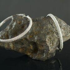 """NWR KROMBOLZ  Sterling Silver Cubic Zirconia Pave Hinged 2"""" Hoop Earrings $350."""