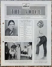 India THE VOICE March 1963 HMV Magazine - GRAZINA