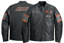 Harley Davidson Men Incinerator Black Leather Jacket Screamin Eagle L 98038-12VM