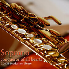 SAX-SOPRANO COLLECTION - HUGE Perfect WAVEs Samples Library over 2,76GB on DVD
