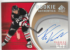 2005-06 SP AUTHENTIC ROOKIE AUTHENTICS THOMAS VANEK ON CARD AUTO #121/250