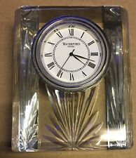 Waterford Crystal Colonade Small Desk Bedside Clock - Mint - EEUC - NEW was $200