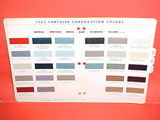 1965 CHRYSLER 300 IMPERIAL PLYMOUTH BARRACUDA DODGE CORONET DART GT PAINT CHIPS