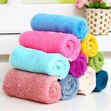 10Pcs/Set Cleaning Towel Bamboo Fiber Dish Wash Cloth for Kitchen Assted Colors