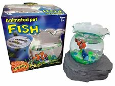 Battery Operated Magic Fake Fish Bowl Animated Pet Aquarium Magnetic Swimming