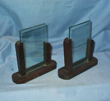 Matching pair of Art Deco wooden photo frames