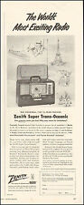 1953 Vintage ad for Zenith Super Trans-Oceanic Radio Photo (010716)