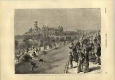 1873 Disraeli Visit To Glasgow University West End Park