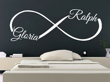 Infinity Wall Decal Custom Personalized Name Sticker Love Symbol Home Decor SM37