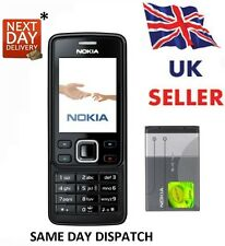 New Condition Nokia Brand 6300 Black Unlocked Camera Simple Classic Mobile Phone