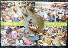 10 Photographs Postcards Fold Out Book - Greetings from Thailand Floating Market