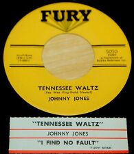 Johnny Jones 45 Tennessee Waltz / I Find No Fault (In My Baby's Love)  w/ts