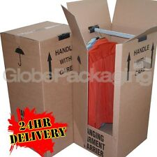 1 REMOVAL WARDROBE CARDBOARD MOVING BOX - COMBINE P&P!