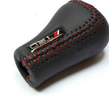JDM TRD Black Leather Red Stitch 5SP Manual Shifter Shift Knob Fit Toyota Lexus!