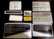 "HONDA CB900F BOL D'OR 1981 SILVER MODEL ""WARNING KIT DECALS"""