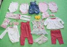 Dungarees romper frilly knickers vests top with bands bundle for girl 3-6 months