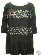 NWT Ann Taylor Black Lace Lined Scoop Neck Flare Empire Dress 8 NEW Party