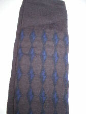 New NWT Womens Designer Marni Socks Wool Italy Knee High S Brown Blue Black II