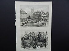 Illustrated London News Full-Page S7070 July 1871 Queen-Square, Wolverhampton