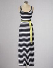 NEW $148 BODEN COTTON BLEND BLACK & IVORY JERSEY STRIPY MAXI DRESS WH516 -US 14L