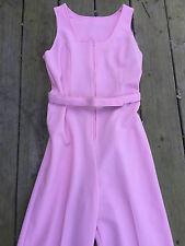 1 Pc Vintage 60's Women Sleeveless Pants Suit Wide Bells Polyester Knit Sz8
