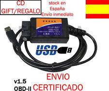 ELM327 CABLE USB MULTIMARCA DIAGNOSIS V1.5 OBDII OBD2 COCHE 2013 SCANNER ELM 327