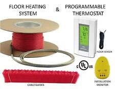 240V ELECTRIC FLOOR HEAT TILE HEATING SYSTEM 200 SQ FT, WITH GFCI DIGITAL THERMO