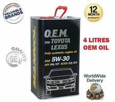 FOR TOYOTA ESTIMA LUCIDA 1999-  ENGINE OIL 4 LITRE 5W-30 5W30 API SN CF C2 C3