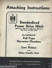 Farm Manual - IH Power Drive Hitch McCormick Harvester Attach Instruction (FM336