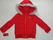 NEW GUESS 11-12 YEARS RED JACKET BOMBER PUFFER JACKET AUTHENTIC