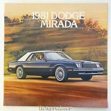 NOS 1981 Dodge Mirada Color Car Automobile Brochure