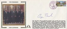 GEORGE H W BUSH Autographed Signed First Day Cover FDC US President