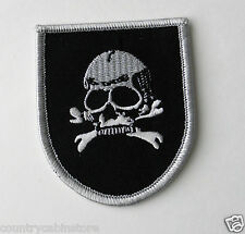 Skull & Cross Bones Death Head Biker Embroidered Patch 3 inches