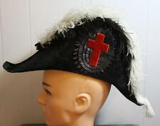 Knights Templar Regalia Plume Hat, Beaver, Royal Arch Masons