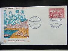 Enveloppe 1é jour du 13 05 1961 Centenaire de Deauville 1861 1961