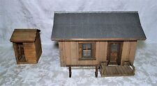 Antique Rustic Wooden Hand Crafted Salesman Sample Model House Cabin Tin Roof