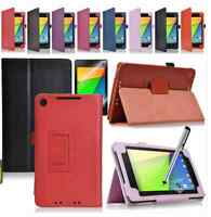 Folio PU Leather Protective Case Cover Stand For ASUS Google Nexus 7 2013 2Gen