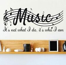 FD4267 Removable Music Is Not Musical Note Room Decor Art Vinyl DIY Wall Decal☆