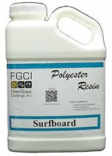 Polyester, Surfboard Resin, Clear, Wax Free, 1 Gallon 128834