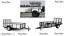 (3)Trailer Plans 4x6 Off Road - 6x12 Utility - 5x10 Utility Trailers. #1 Plans