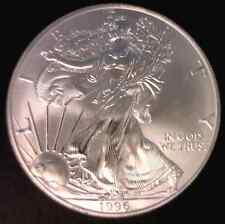 1996 $1 American 1 Oz Silver Eagle CH BU See Description Stock Photo