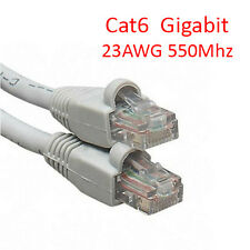 100Ft Cat6 UTP RJ45 8P8C 23AWG 550Mhz Gigabit LAN Ethernet Network Patch Cable