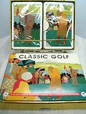 NEW CLASSIC GOLF THEME Playing Cards Deck 2 Pack Large Numbers - Piatnik AUSTRIA