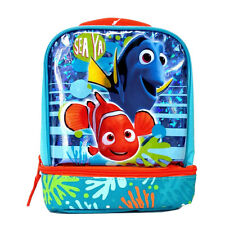 Disney FINDING NEMO DORY Dual Compartment Insulated Tote Lunch Bag Box NEW