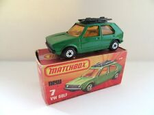 Matchbox Superfast 7c VW Golf - Dark Metallic Green - Mint/Boxed