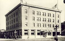 LEWISTOWN MONTANA BANK ELECTRIC BUILDING RPPC Photo Postcard c1920