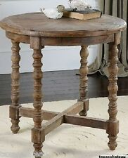 COASTAL RECLAIMED WOOD ACCENT TABLE NAUTICAL BEACH HOUSE COTTAGE DRIFTWOOD STYLE